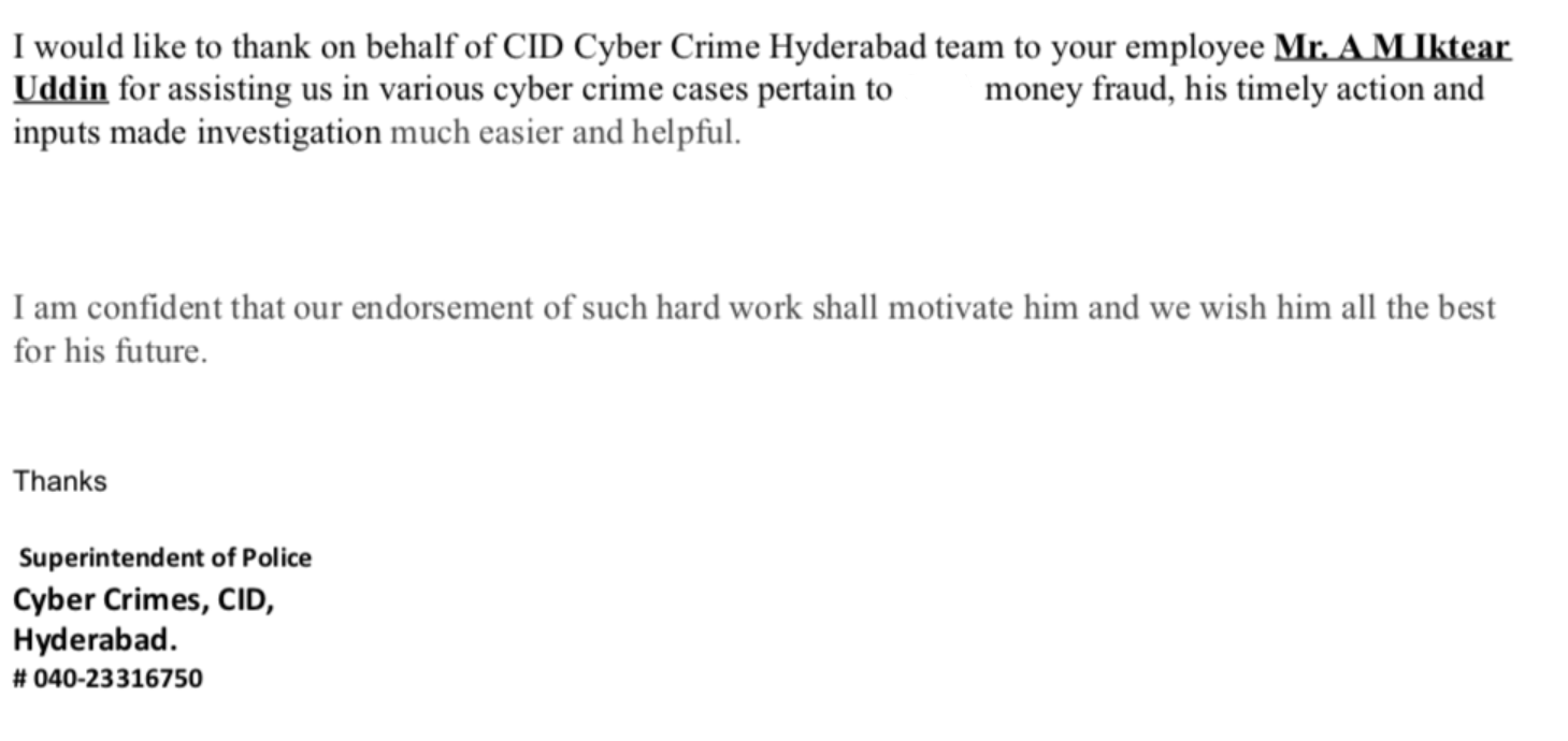 hyderabad-cyber-crime-appreciation